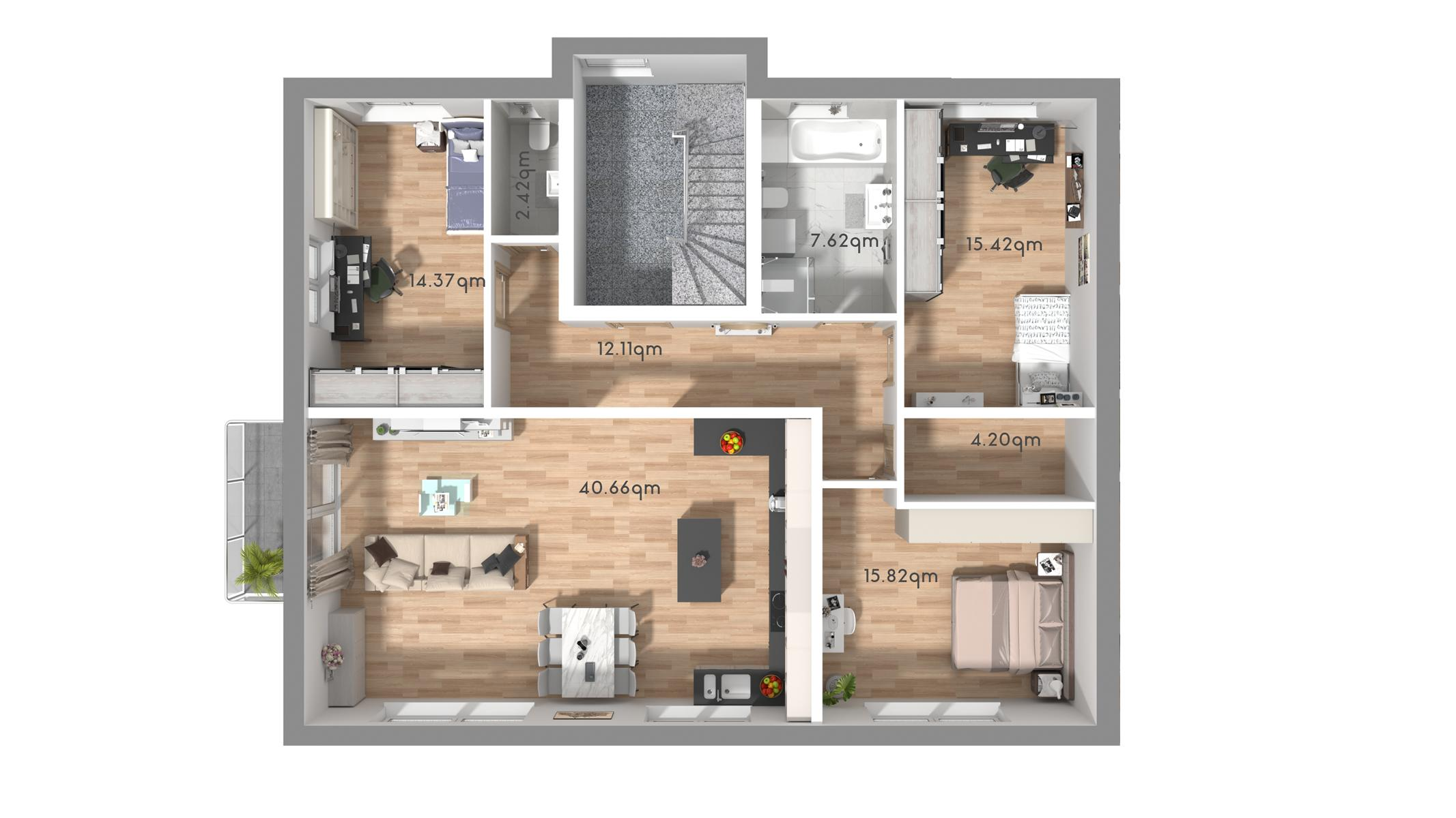 Grundriss OG-Wohnung